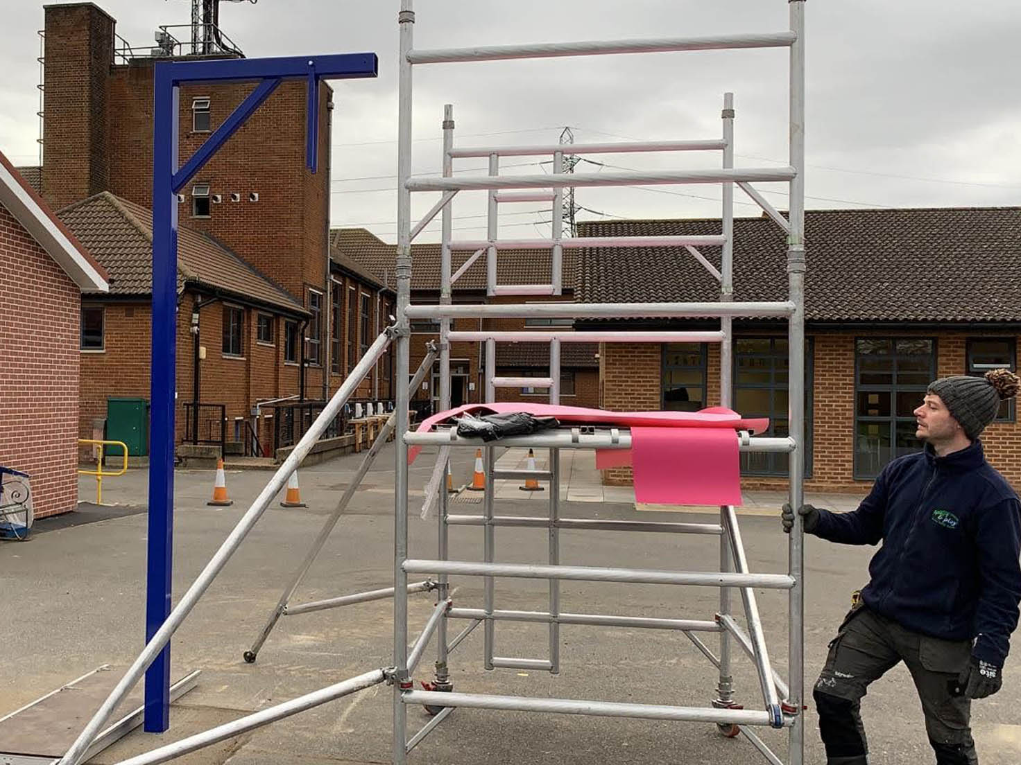 Supply and installation of outdoor sports and athletics equipment